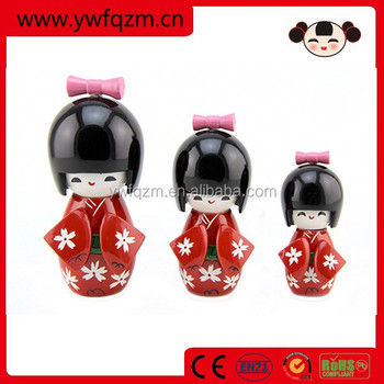 Hot Selling wooden Japanese Doll Toys