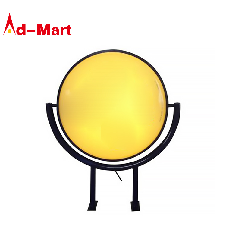 Rotating Light Box Display <strong>Advertising</strong> Rotating Lightbox Round Outdoor Led Light Box Sign Signage