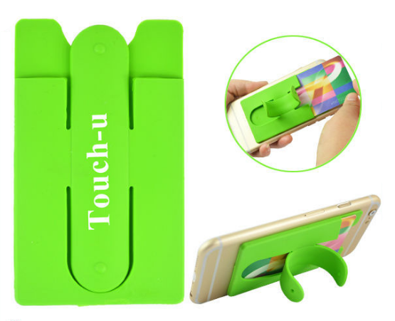 Expandable Wing Design Silicone 3M Sticky Card Wallet With Mobile Phone Holder