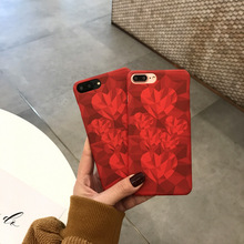 Korean hot sale custom oem polka dot love heart polish pc phone case for iphone 8 7 6 plus 6s