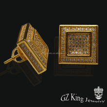 iced out cz diamond earring factory china,studs and boys earrings for boys