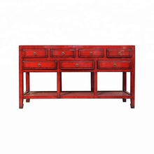 chinese antique distressed lacquered wooden furniture, console table in living room