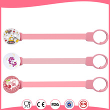 BPA free baby soother chain holder clip funny pacifier clip