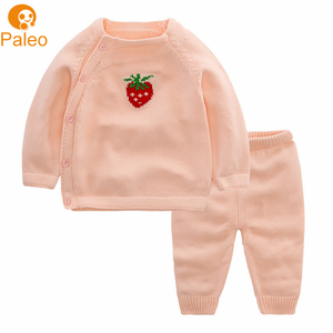 Factory OEM Strawberry Knitted child Clothing sweater designs for girls