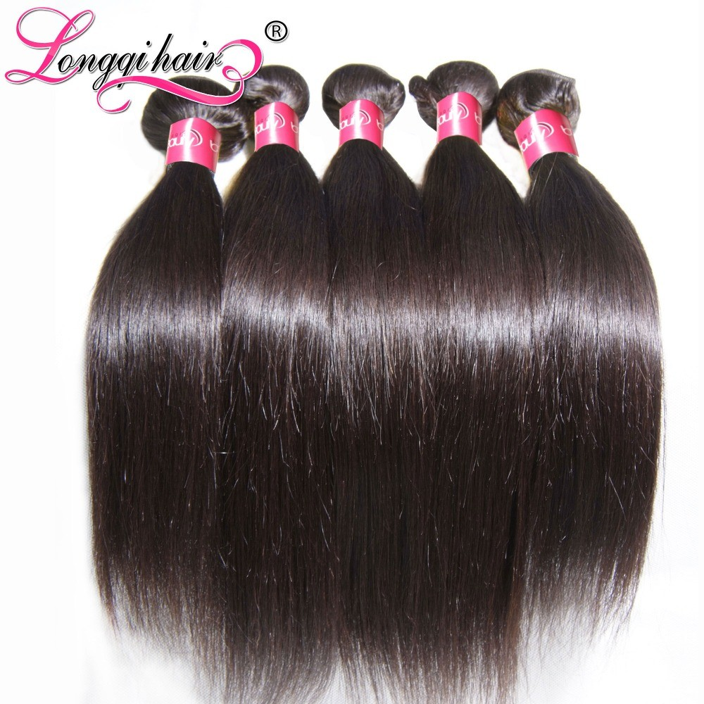 Natural Color Raw Unprocessed Virgin Indian Temple Hair Straight Human Hair Bundles Cheap Wholesale