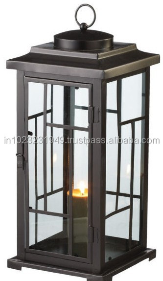 Pillar Candle Lantern Candle Lantern with Electric Fitting