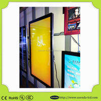 42 inch wall mounted video ad player,USB HD LCD advertising display screen ,indoor electronic advertising LED display screen
