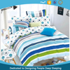 Cheap warm colorful stripes pigment printed 100% cotton sheet set from China Manufacturer