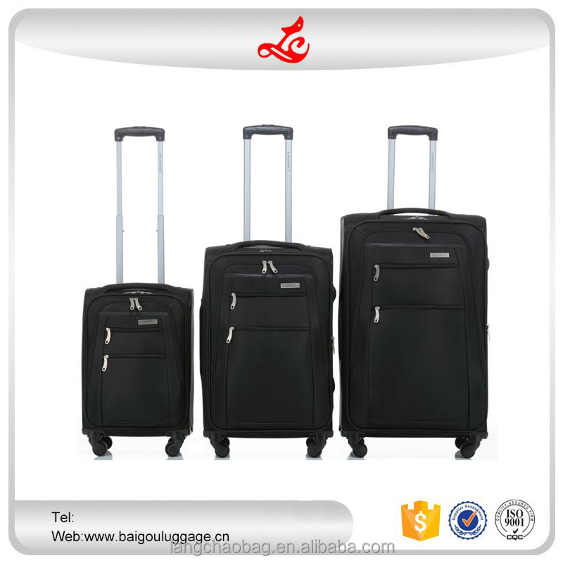 "2016 hot selling royal trolley luggage 20""24""28"" soft luggage nylon travel trolley suitcase"