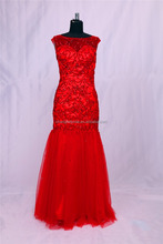 Fashion New Real Sample Floor Length Mermaid Prom Evening Dress for Women