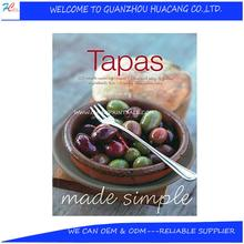 Special Custom design softcover cooking books printing