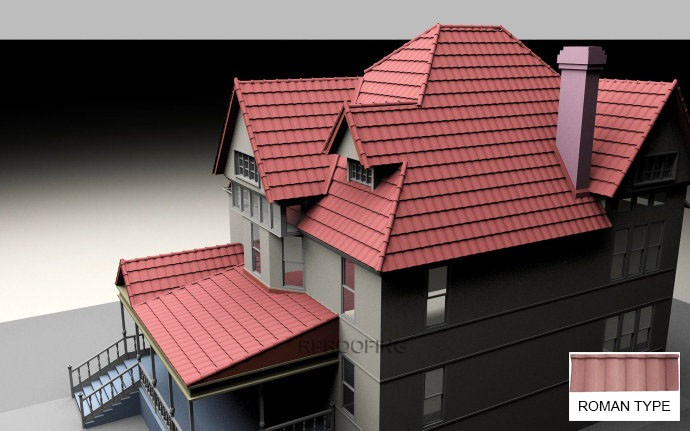 Professional roman building material,stone coated metal roofing shingles with great price