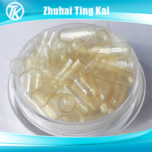 Bulk clear size 0 veg capsules separated