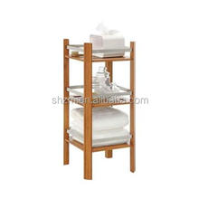 Natural bamboo bathroom shampoo rack Factory price