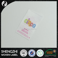 custom printed polyester satin garment labels wash care labels