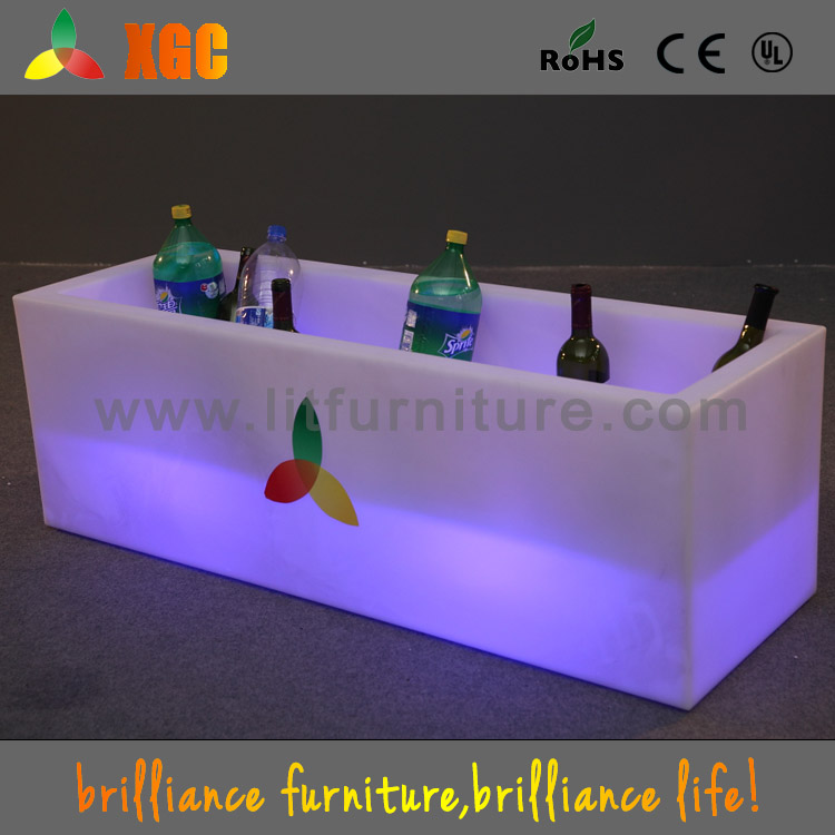 LED party tubs/luminous pub ice bucket/illuminated wine cooler/light up event beer cooler