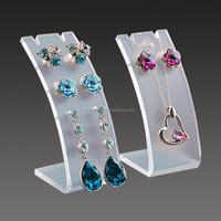 Customized acrylic earring and necklace display cards