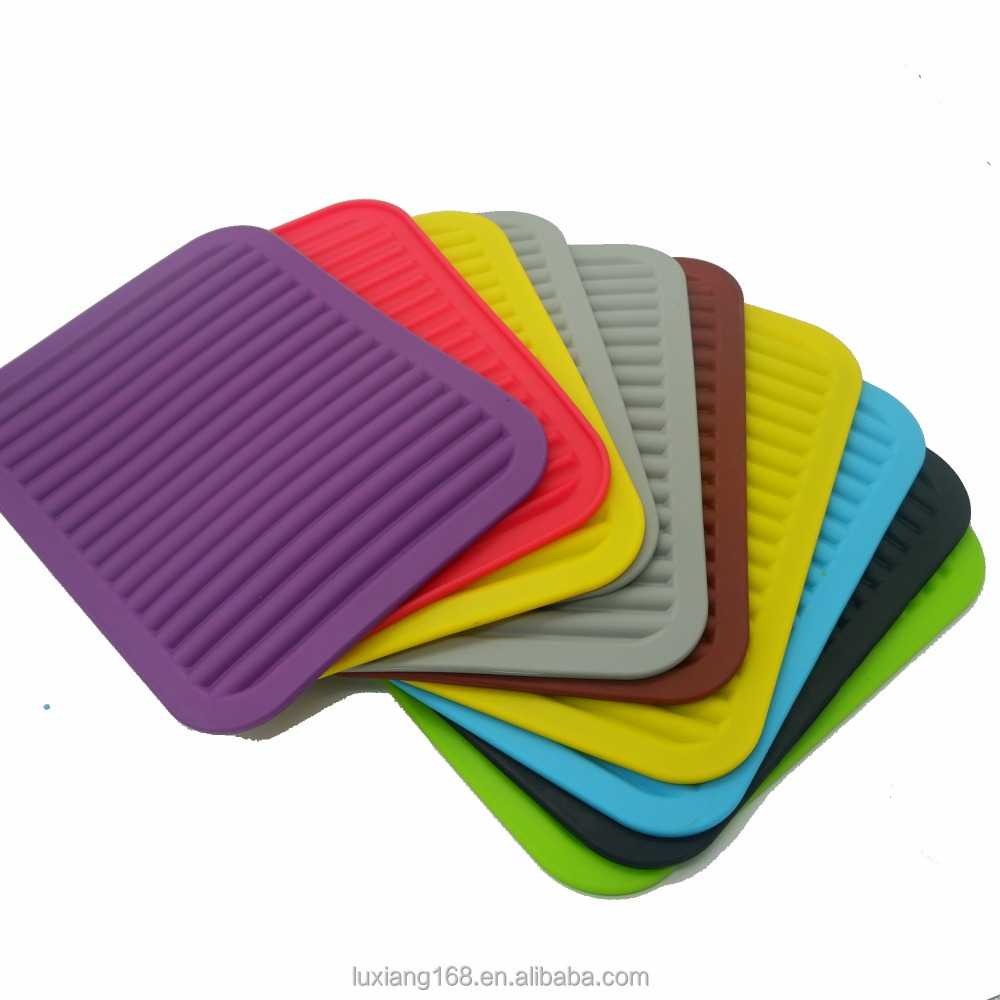 Silicone cup mat Rubber Hot Pads Pot Holder Trivet Mat baking mat with custom printing Embssed LOGO