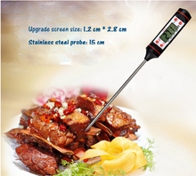 BV/SGS certificate 145mm length probe sharp needle cooking thermometer with low price