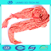Soft polyester plain microfiber scarf drapery for wholesale