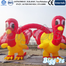 Popular New Design Turkey Model Inflatable Advertising Arch For Thanksgiving Day