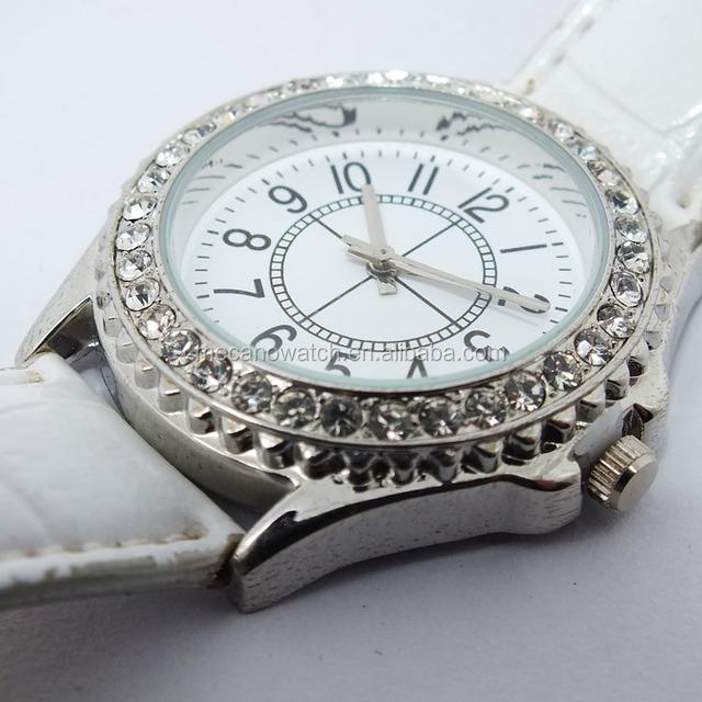 White Fashion Crystal Diamonds Lady's Watches Ladies Bracelet Womens Watch