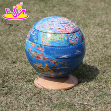 2016 Educational blocks wooden 3d globe puzzle W14G038