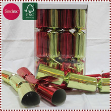 holiday paper christmas cracker for party with small gifts