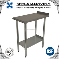 NSF approval commercial kitchen or restaurant detechable work bench/equipment filler table/stainless steel work table