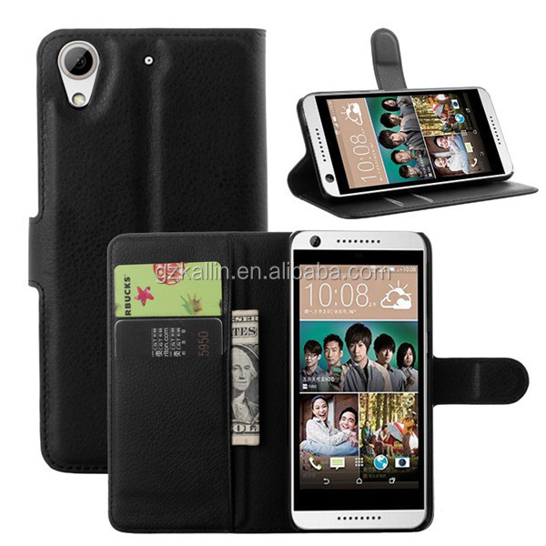 mobile phone flip leather case cover for htc desire 620