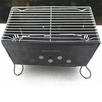 Stainless Steel Folding Charcoal Barbeque Grill Portable Barbeque Grill BBQ + Black Oxford Carrying Bag
