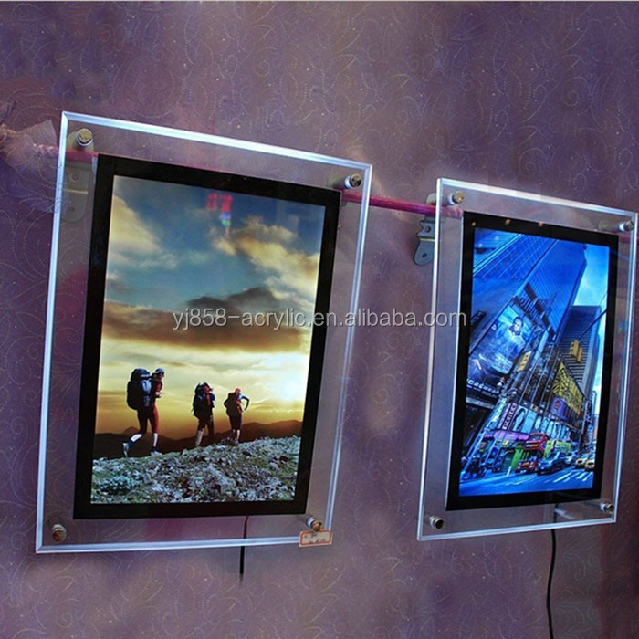 Outdoor indoor ultra slim advertising LED display acrylic light box