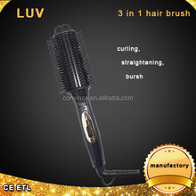 2016 Wholesale hair ceramic straightening brush,hair curling iron from China factory