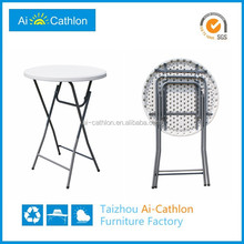 Outdoor Event Plastic Round Folding Party Bar Cocktail Tables and Chairs