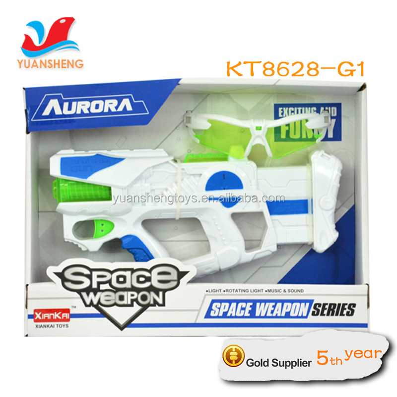 2016 kids Fashion space weapon toys electronic toys Space Gun laser tag and music