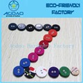 Factory price selling fashion two hole fabric covered buttons for shirts