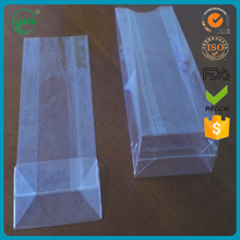 Open top clear plastic packaging bopp square bottom bag