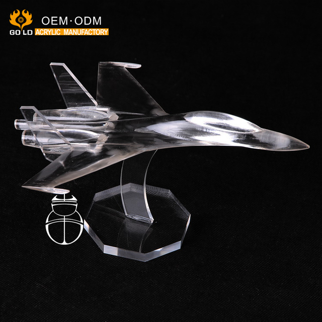 OME carving crafts clear acrylic artware , kid acrylic toy plane
