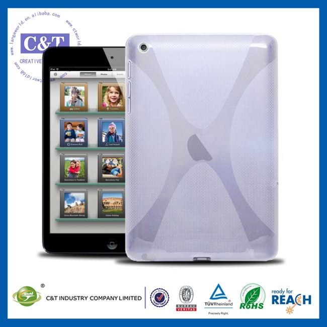 C&T Flexible defender white mini accessories factory case cover for apple ipad mini