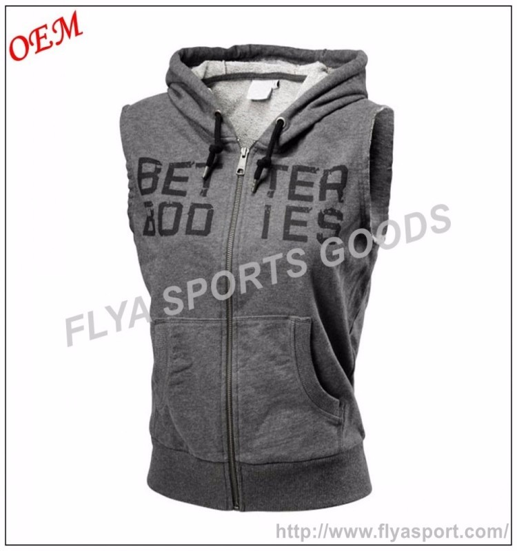 custom xxxxl plus size mens sleeveless pullover bodybuilding hoodie