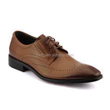 Guangdong classical style genuine leather lace-up men's dress shoes made in china