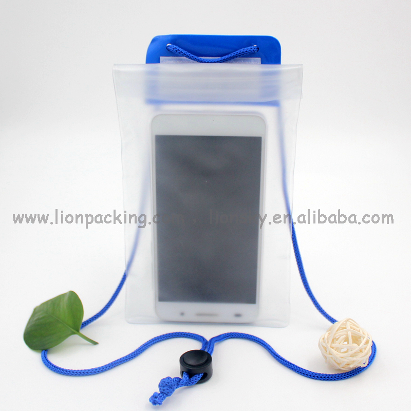 Universal IPX8 level swimming waterproof PVC pouch case for mobile phone etc