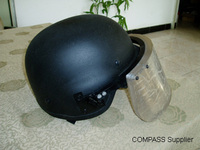 Soft Bulletproof Helmet With Bulletproof Glass Shield