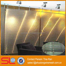 Hebei Manufactory stainless steel architectural woven wire drapery/stainless steel woven mesh