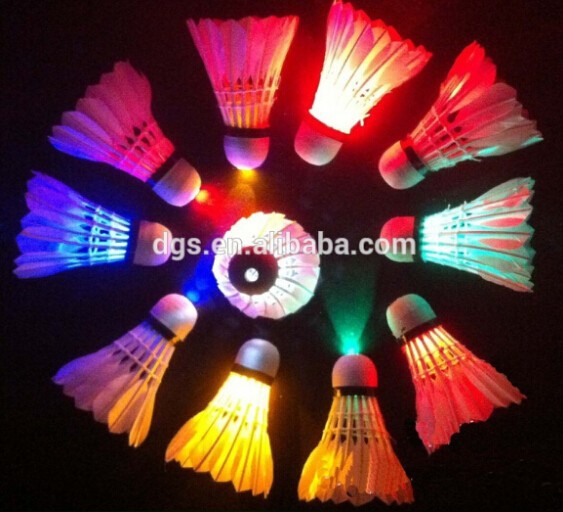 Hot items Colorful Lighted Shuttlecock Flashing Led Badminton