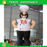 MOQ10pcs cheap advertising 6meters high inflatable marcos pizza