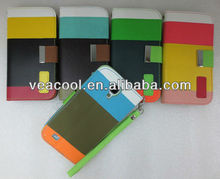 Newest Painting Color PU Leather Wallet Case Stand for Samsung Galaxy S4 i9500