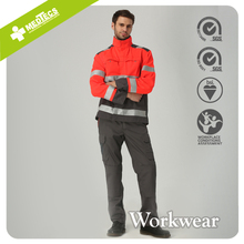 Red safety reflective clothing Overalls Work Jacket