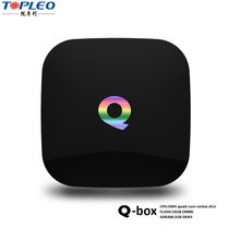Smart box tv 2016 2gb 16gb ott ir remote control q box android tv box