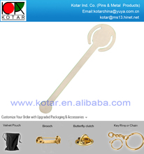 Custom fashion brass etchingl bookmark with nickel plating